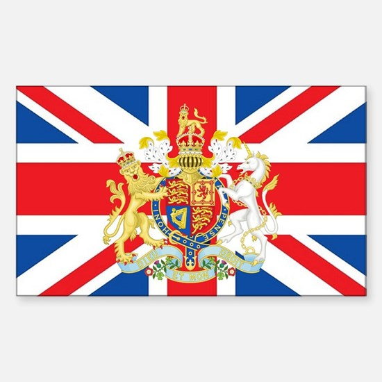 British Flag with Royal Crest Bumper Stickers