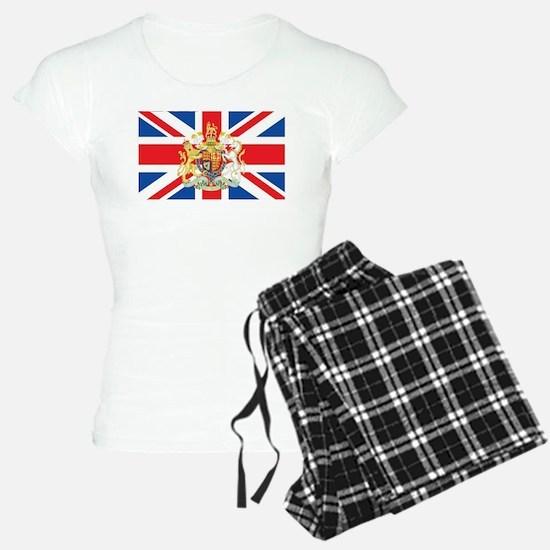 British Flag with Royal Crest Pajamas