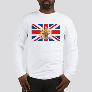 British Flag with Royal Crest Long Sleeve T-Shirt