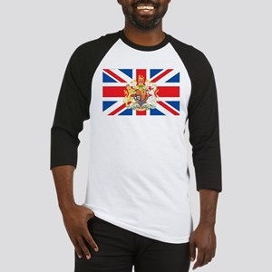 British Flag with Royal Crest Baseball Jersey