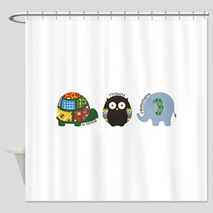 Jungle Animals (French) Shower Curtain