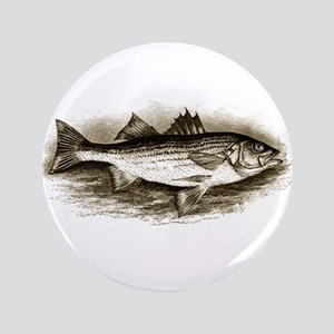 "Striped Bass Logo (vintage) 3.5"" Button"