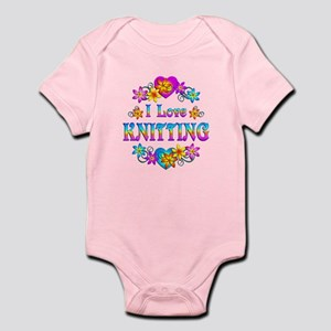 I Love Knitting Infant Bodysuit
