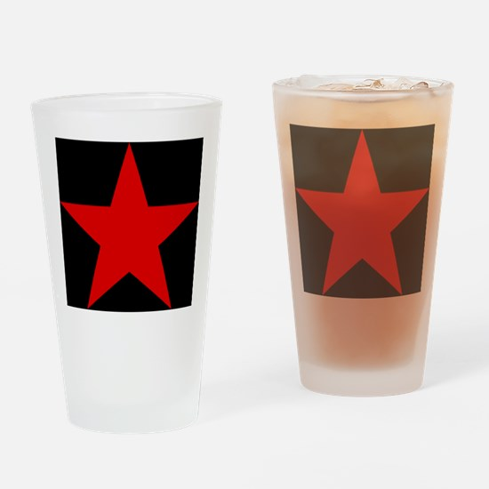Red Pentagram Drinking Glass