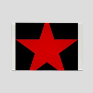 Red Pentagram Rectangle Magnet