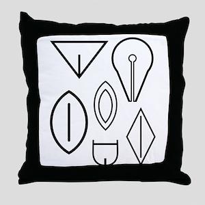 Vulva Symbols Throw Pillow