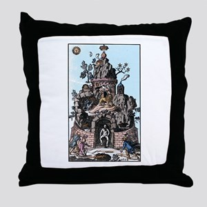 Christian Rosencruetz Throw Pillow
