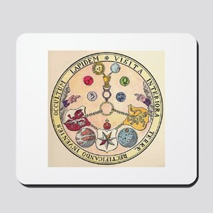 Rosicrucian Rose Mousepad