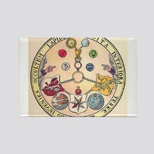 Rosicrucian Rose Rectangle Magnet