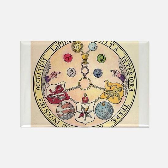 Rosicrucian Rose Rectangle Magnet
