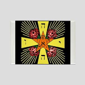 Rosy Cross Rectangle Magnet