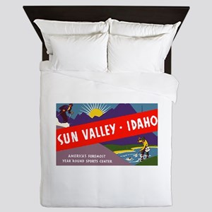 Sun Valley Idaho Queen Duvet