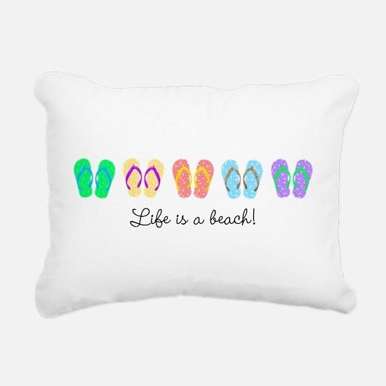 Personalize It, Flip Flop Rectangular Canvas Pillo