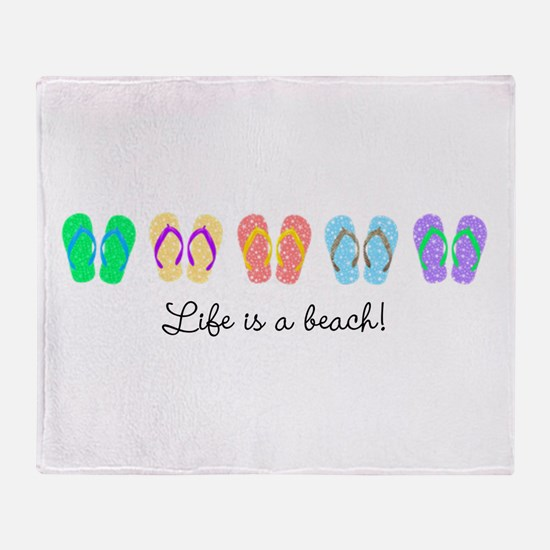 Personalize It, Flip Flop Throw Blanket
