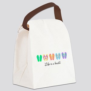 Personalize It, Flip Flop Canvas Lunch Bag