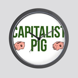 Capitalist Pig Wall Clock