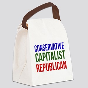 Conservative Capitalist Republican Canvas Lunch Ba