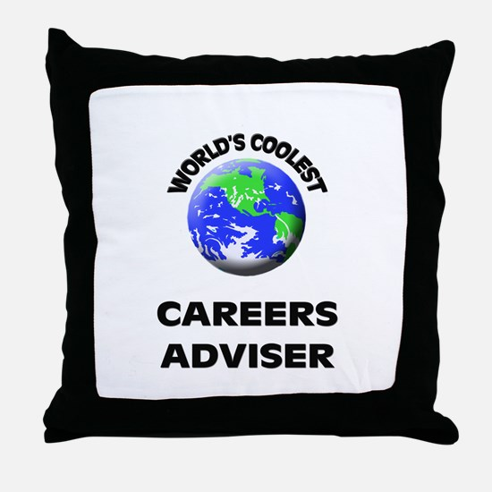 World's Coolest Careers Adviser Throw Pillow