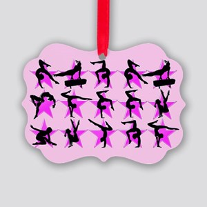 PRETTY PINK GYMNAST Picture Ornament