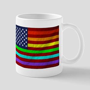Gay Rights Rainbow Patriotic Flag Mug