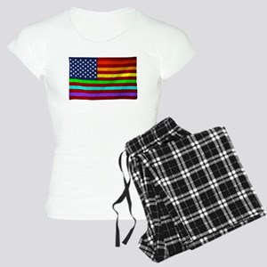 Gay Rights Rainbow Patriotic Flag Pajamas