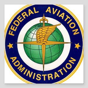 "FAA logo Square Car Magnet 3"" x 3"""