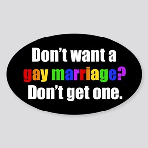 Gay Marriage Sticker (Oval)