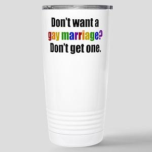 Gay Marriage Stainless Steel Travel Mug