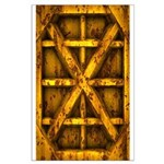 Rusty Shipping Container - yellow Posters