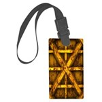Rusty Shipping Container - yellow Luggage Tag