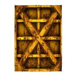 Rusty Shipping Container - yellow 5'x7'Area Rug