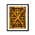 Rusty Shipping Container - yellow Framed Panel Pri