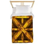 Rusty Shipping Container - yellow Twin Duvet