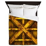 Rusty Shipping Container - yellow Queen Duvet