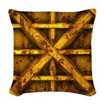 Rusty Shipping Container - yellow Woven Throw Pill