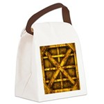 Rusty Shipping Container - yellow Canvas Lunch Bag