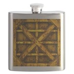 Rusty Shipping Container - yellow Flask