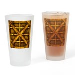 Rusty Shipping Container - yellow Drinking Glass