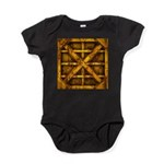 Rusty Shipping Container - yellow Baby Bodysuit