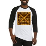 Rusty Shipping Container - yellow Baseball Jersey