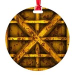 Rusty Shipping Container - yellow Ornament
