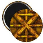 Rusty Shipping Container - yellow Magnet