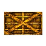 Rusty Shipping Container - yellow Rectangle Car Ma
