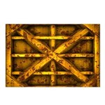 Rusty Shipping Container - yellow Postcards (Packa