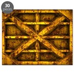 Rusty Shipping Container - yellow Puzzle