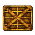 Rusty Shipping Container - yellow Mousepad