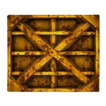 Rusty Shipping Container - yellow Throw Blanket
