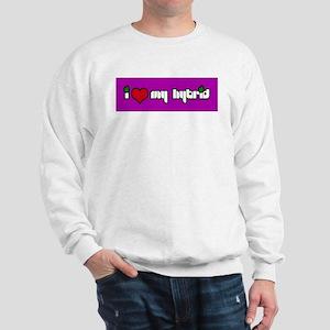 """I HEART MY HYBRID"" - Logo on Sweatshirt"