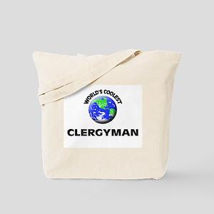 World's Coolest Clergyman Tote Bag