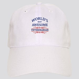 World's Most Awesome Veterinarian Cap